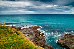 Dark Clouds over sea Stock Photography