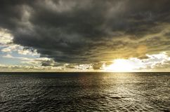 Dark Clouds over The Sea royalty free stock image