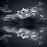 Dark Clouds over Sea Royalty Free Stock Photo