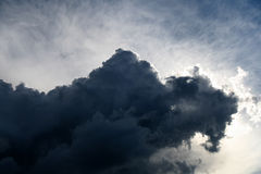Dark clouds. Over the sky stock image