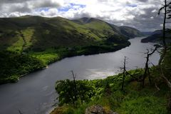 Dark clouds over Thirlmere Stock Image