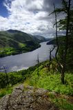 Dark clouds over Thirlmere. Viewing Thirlmere from Raven Crag Royalty Free Stock Photography