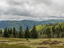 Dark clouds over Vosges Royalty Free Stock Image