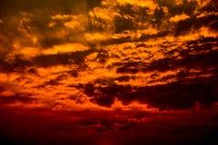 Dark clouds rainy storm sky sunset Stock Photography