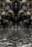 Dark clouds reflected in water. Dark textured clouds reflected over water Stock Images