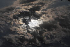 Dark Clouds Reflection Stock Photography