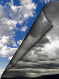 Dark clouds rolling away Royalty Free Stock Photo