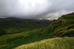 Dark Clouds of the Scafell range Royalty Free Stock Photos