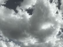Dark clouds in the sky stock photos