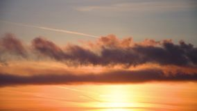 Dark clouds of smoke and clouds at sunset. Air pollution stock video footage