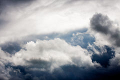 Dark clouds before the storm Stock Images