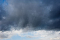 Dark clouds with stormy sky Royalty Free Stock Photography