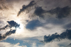 Dark clouds and sun Royalty Free Stock Image