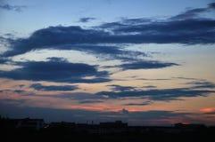 Dark clouds Stock Image