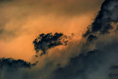 Dark clouds. Royalty Free Stock Photos