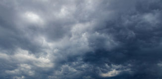 Dark clouds before thunderstorm Royalty Free Stock Image
