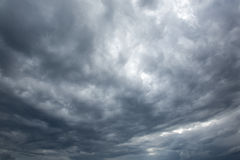 Dark  clouds before a thunderstorm Royalty Free Stock Photo