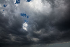 Dark clouds before a thunderstorm stock images