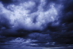Dark clouds in thunderstorm Royalty Free Stock Photo