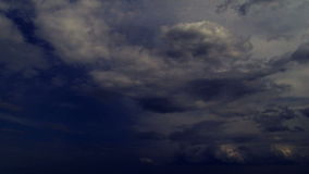 Dark Clouds timelampse sky Royalty Free Stock Photography