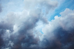Dark cloudy night ominous sky. A dark cloudy night ominous sky - landscape royalty free stock photo