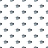 Dark cloudy pattern seamless. In flat style for any design Royalty Free Stock Photo