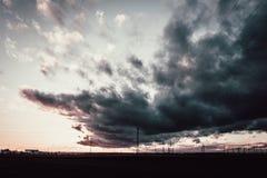 Dark Cloudy Sky Stock Photography