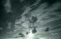 Dark cloudy sky stock photo