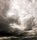 Dark cloudy sky royalty free stock photography