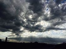 Dark cloudy sky Royalty Free Stock Photos