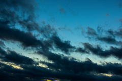 Dark cloudy sky Stock Photography