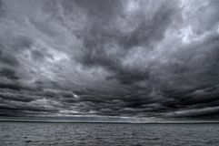 Dark cloudy sky Stock Image