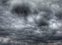 Dark cloudy sky in rainy season Royalty Free Stock Images