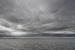 Dark cloudy sky Stock Photo