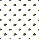 Dark cloudy sun pattern seamless. In flat style for any design Stock Photo