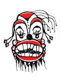 Dark Clown Drawing Stock Images
