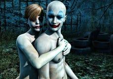 Dark Clowns Stock Photography