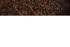 Dark coffe beans wallpaper with with place royalty free stock photos
