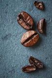 Dark coffee beans Stock Photos