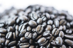 Dark coffee beans Royalty Free Stock Photo