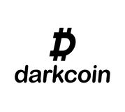 Dark Coin Concept Design Stock Photo
