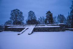 Dark and cold at fredriksten fortress (bezel) Stock Photography
