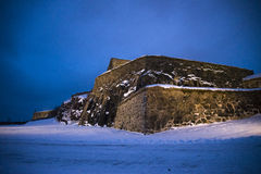 Dark and cold at fredriksten fortress (under-dragon) Royalty Free Stock Images