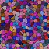 Dark color full marble irregular stony mosaic seamless pattern texture background Stock Photography