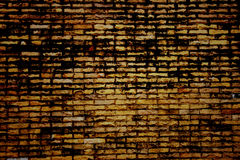 Dark color of old brick wall. Stock Photo