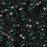 Dark color pattern with flowing circles Royalty Free Stock Photo