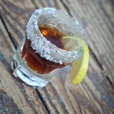 Dark colored shot of alcohol Royalty Free Stock Images
