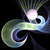 Dark colorful infinite spiral. Digital artwork for creative graphic design royalty free illustration