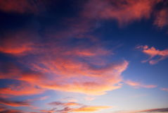 Dark colorful sunset clouds Royalty Free Stock Image