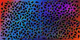 Dark Colors vector of small black triangles on colorful background. Illustration of abstract texture of triangles. Pattern design. Dark Colors vector of small Stock Images